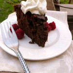 Chocolate Raspberry Ricotta Cake ~ Sumptuous Spoonfuls #choctoberfest #cake #recipe