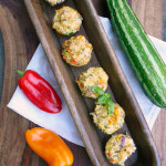 Sweet Pepper Asiago Zucchini Tots ~ Sumptuous Spoonfuls #zucchini #recipe