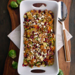 Autumn Butternut Cranberry Quinoa with Shaved Brussels Sprouts ~ Sumptuous Spoonfuls #holiday #recipe