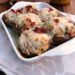 Thanksgiving Stuffed Mushrooms  ~ Sumptuous Spoonfuls #Thanksgiving #Leftovers #Recipe
