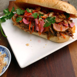 Vietnamese Pork Banh Mi Sandwiches ~ Sumptuous Spoonfuls #Asian #Pork #Sandwich #recipe