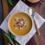 Bacon Chipotle Butternut Soup ~ Sumptuous Spoonfuls #savory #squash #soup #recipe