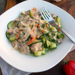 Creamy Creole Chicken Zoodles ~ Sumptuous Spoonfuls #Cajun #Creole #Chicken #Recipe