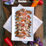 Cheesy Voodoo Oven Fries ~ Sumptuous Spoonfuls #MardiGras #FatTuesday #recipe