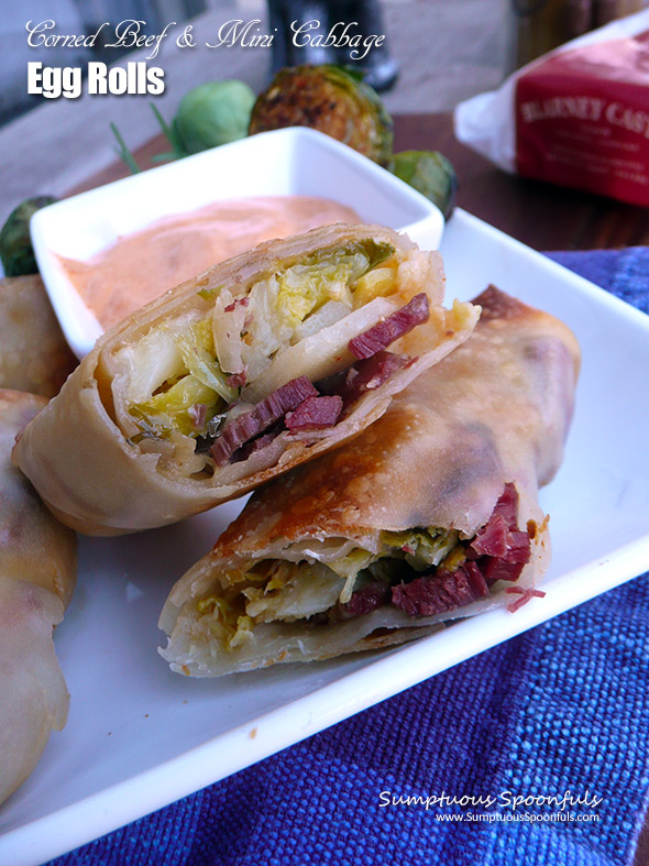 Corned Beef & Mini Cabbage Egg Rolls
