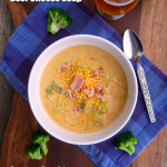 Smoky Broccoli Beer Cheese Soup ~ Sumptuous Spoonfuls #broccoli #beer #cheese #soup #recipe