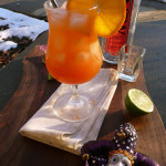 Spicy Mango Passionfruit Hurricane ~ Sumptuous Spoonfuls #MardiGras #Cocktail #Recipe