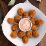 Cheesy Carrot Cauliflower Tots ~ Sumptuous Spoonfuls #snack #recipe
