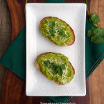 Lemon Avocado Sweet Pea Crostini ~ Sumptuous Spoonfuls #avocado #toast #recipe