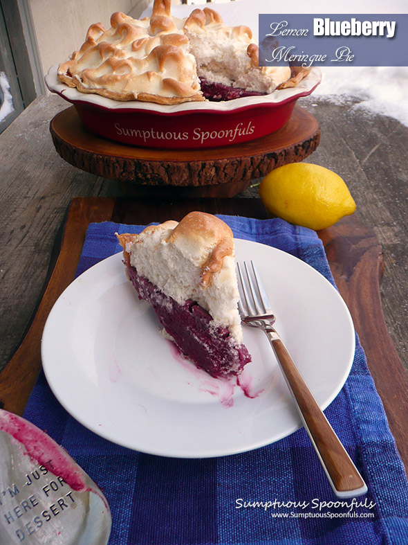 Lemon Blueberry Meringue Pie