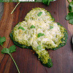 Lucky Green Shamrock Pizza ~ Sumptuous Spoonfuls #Irish #StPatricksDay #recipe