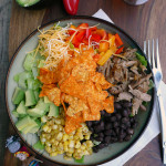 Modern Taco Salad w Sriracha Ranch Dressing ~ Sumptuous Spoonfuls #amazing #taco #salad #recipe
