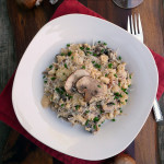 4-Cheese Mushroom Cauliflower Risotto ~ Sumptuous Spoonfuls #easy #lowcarb #risotto #recipe