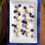 Blueberry Lavender Truffles ~ Sumptuous Spoonfuls #blueberry #truffles #recipe