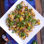 Roasted Cauliflower Nachos ~ Sumptuous Spoonfuls #easy #healthy #CincoDeMayo #recipe