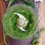 Sunflower Dill Pesto ~ Sumptuous Spoonfuls #dill #pesto #recipe #glutenfree #dairyfree #nutfree