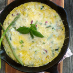 Dilly Potato Asparagus Frittata ~ Sumptuous Spoonfuls #herbs #eggs #recipe #easy #quick