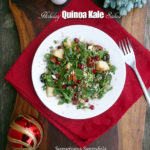 Holiday Quinoa Kale Salad ~ Sumptuous Spoonfuls #holiday #salad #recipe
