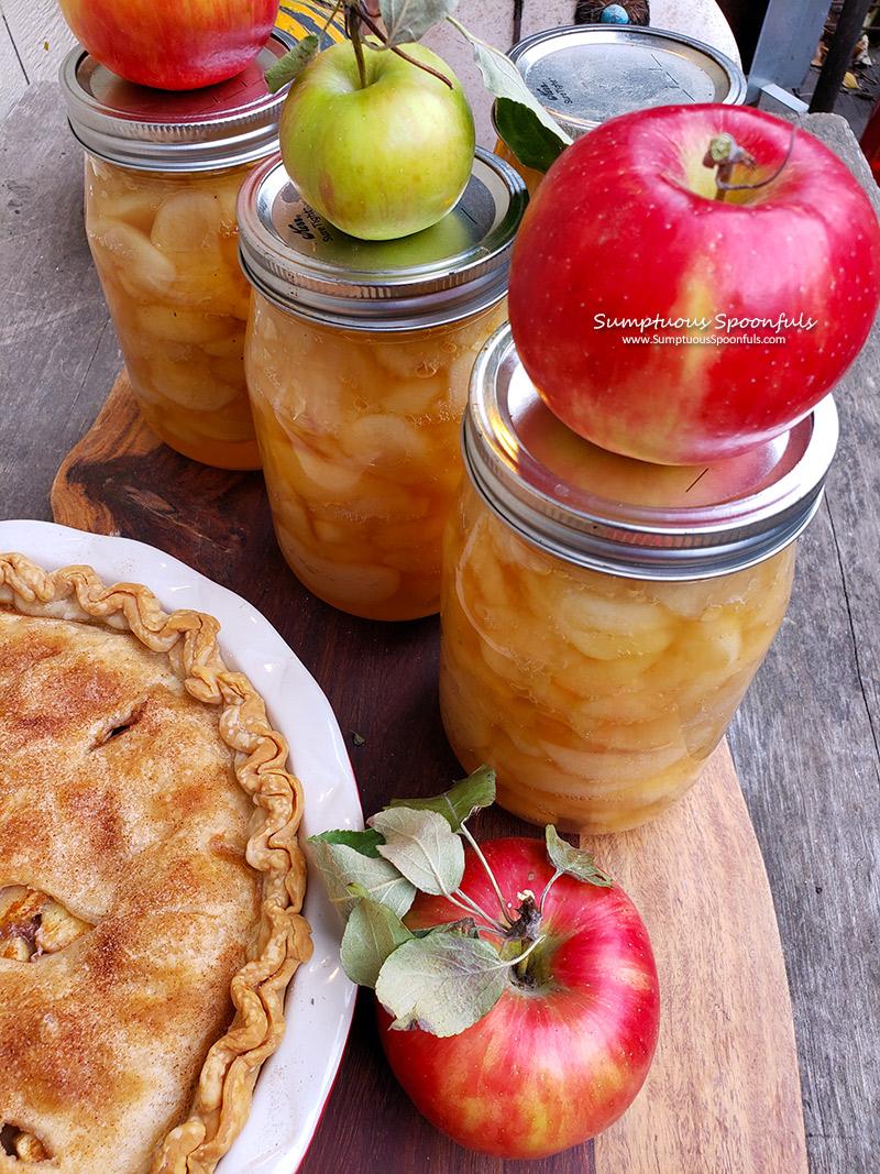 Canning Apples for Pie, Crisp or Cobbler